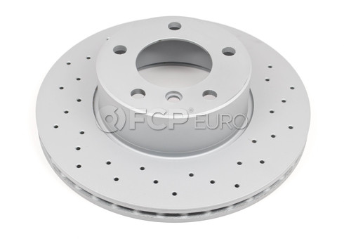 BMW Drilled Brake Disc - Zimmermann Sport 34116767061