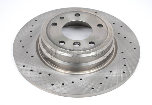 BMW Drilled Brake Disc - Zimmermann Sport 34216757749