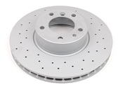 BMW Drilled Brake Disc - Zimmermann Sport 34116757747