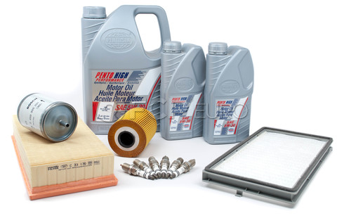 BMW Tune Up and Filters Kit with Oil (E34 525i) - E34TUNEKIT2-Oil