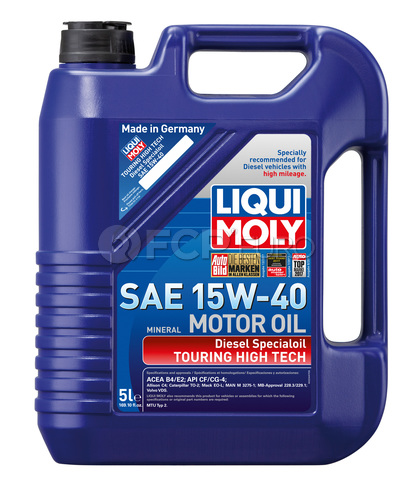 15W40 Touring High Tech Diesel Special Engine Oil (5 Liters) - Liqui Moly LM2044