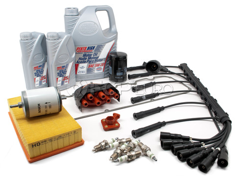 BMW Complete Tune Up and Filters Kit with Oil (E28 528e) - E28TUNEKIT3-Full