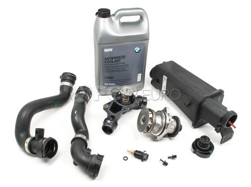 BMW Cooling System Overhaul Kit With Water Pump (E46 323Ci, 323i, 325Ci, 325i, 325xi, 328Ci, 328i, & more) - E46COOLKIT