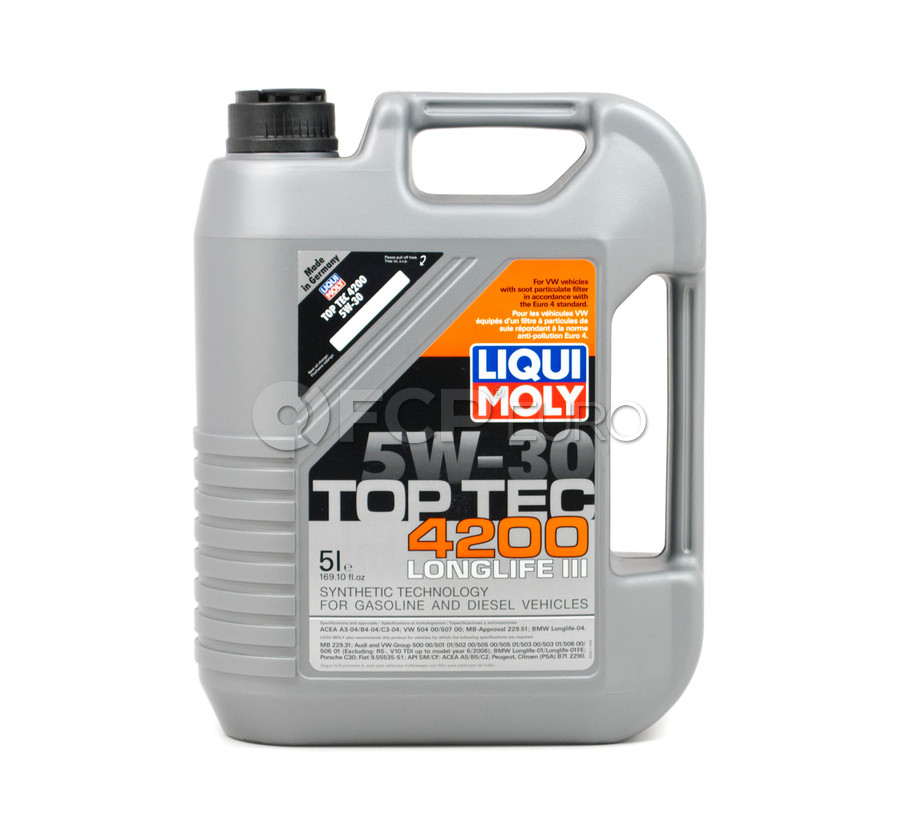 5w30 top tec 4200 engine oil 5 liters liqui moly. Black Bedroom Furniture Sets. Home Design Ideas
