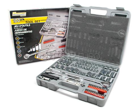 100 Piece Ratchet and Socket Set - Performance Tool W1198