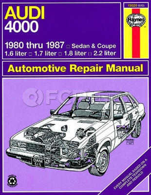 Audi Haynes Repair Manual (4000) - Haynes HAY-15020