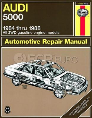 Audi Haynes Repair Manual (5000) - Haynes HAY-15026