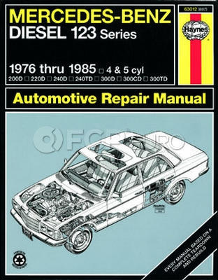 Mercedes Benz Haynes Repair Manual (W123 Chassis) - Haynes HAY-63012