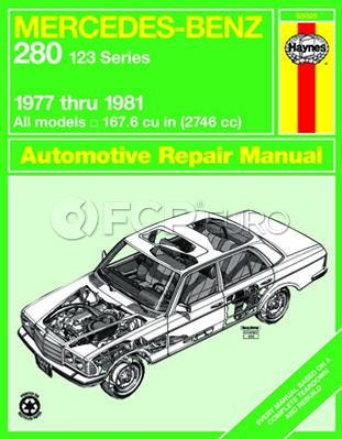 Mercedes Benz Haynes Repair Manual (280 W123 Series) - Haynes HAY-63025