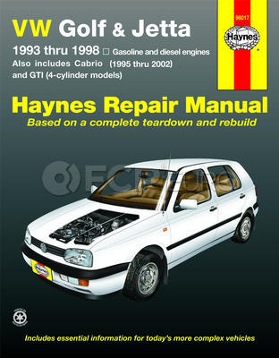 VW Haynes Repair Manual (Golf Jetta Cabrio) - Haynes HAY-96017