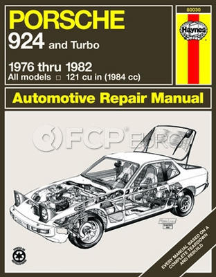 Porsche Haynes Repair Manual (924) - Haynes HAY-80030