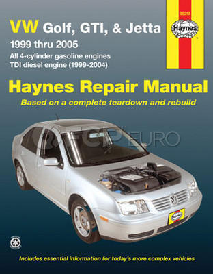 VW Haynes Repair Manual (Golf Jetta 99 - 05 ) - Haynes HAY-96018