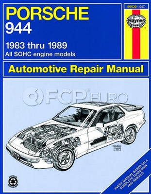 Porsche Haynes Repair Manual (924S 944) - Haynes HAY-80035