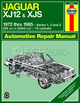 Jaguar Haynes Repair Manual (XJ12 XJS) - Haynes HAY-49015