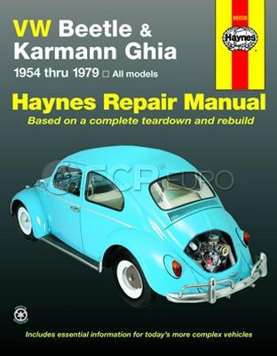 VW Haynes Repair Manual (Beetle Karmann Ghia) - Haynes HAY-96008