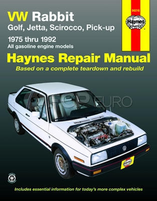 VW Haynes Repair Manual - Haynes HAY-96016