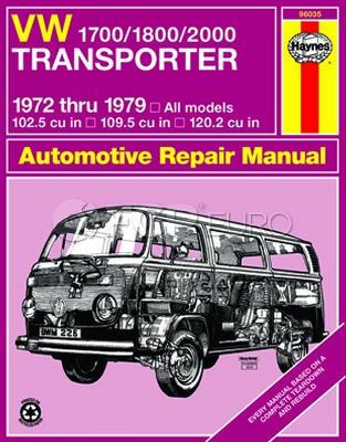 VW Haynes Repair Manual (1700/1800/2000 Transporter) - Haynes HAY-96035