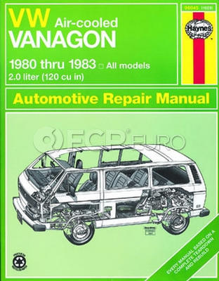 VW Haynes Repair Manual (Air-cooled Vanagon) - Haynes HAY-96045