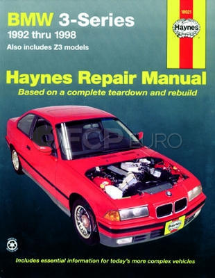 BMW Haynes Repair Manual (3-Series 92'-98' Z3) - Haynes HAY-18021