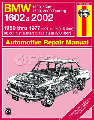 BMW Haynes Repair Manual (1500 1600 1602 2000 2002) - Haynes HAY-18050