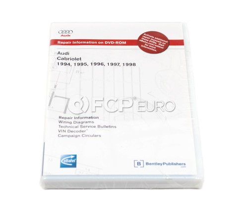 Audi Repair Manual DVD-ROM (Cabriolet) - Bentley AB35