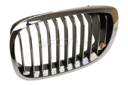 BMW Chrome Grille Left (325Ci 330Ci) - Genuine BMW 51137064317