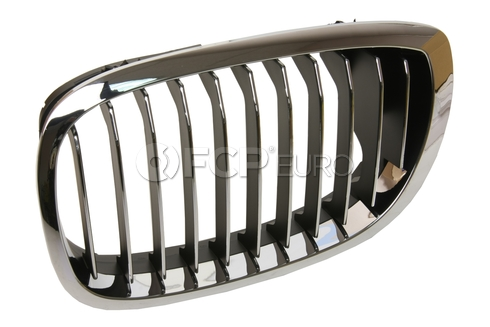 BMW Chrome Grille Left - Genuine BMW 51137064317