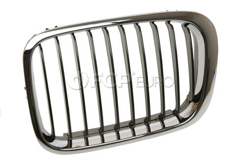 BMW Kidney Grille Left (Black Slits/Chrome Ring) - EZ 51138208487