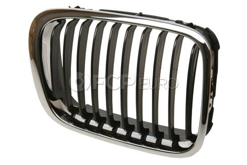BMW Kidney Grille Right (Black Slits/Chrome Ring) - EZ 51138208488