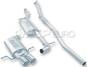"""Audi 2.25"""" Stainless Steel Cat-Back Exhaust System (A4 Quattro) - Borla 14845"""