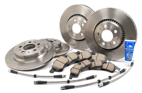 "Volvo Brake Kit 12"" With Stainless Hoses (S60 V70 XC70 S80) - S80BRAKEKITLINES2"