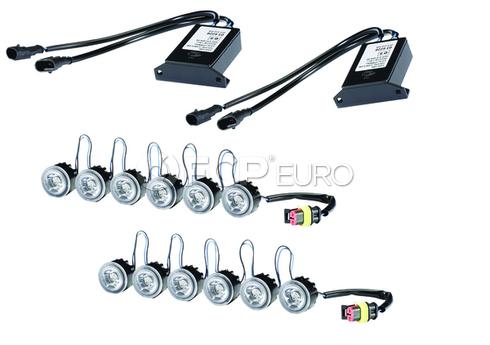 Hella LEDay Flex Daytime Running Lights Kit - 6 LED Light Kit - 010458831