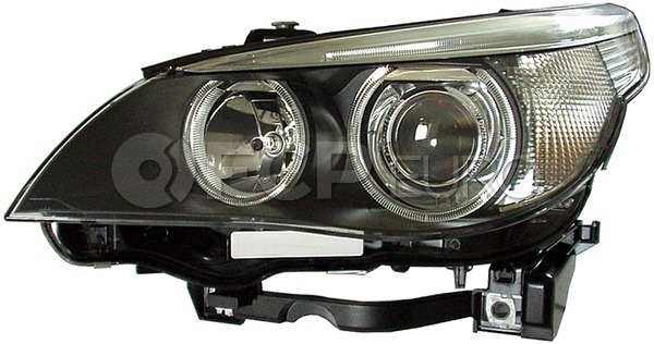 BMW Bi-Xenon Headlight Assembly - Hella 63127166118