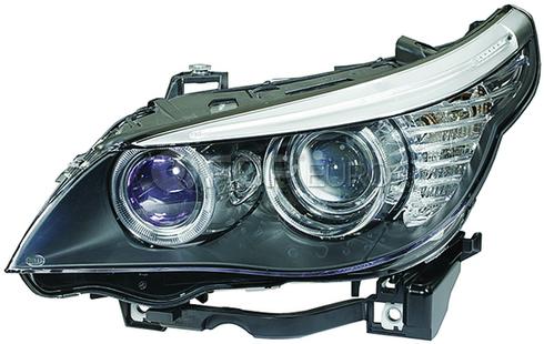BMW Headlight Assembly w/o Adaptive Right (E60 E61) - Hella 63127177732