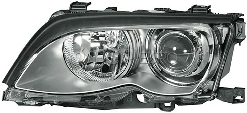 BMW Headlight Assembly Xenon Left - Hella 63127165791