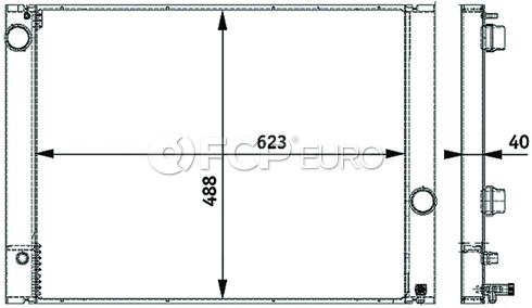 BMW Radiator (760i 760Li) - Behr 17117585439