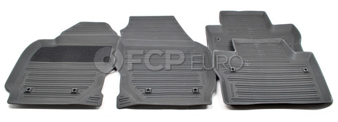 Volvo Rubber Floor Mat Set Off Black (V70 XC70) - Genuine Volvo 39807571