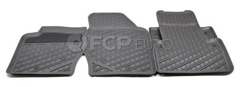 Volvo Rubber Floor Mat Set Grey (XC90) - Genuine Volvo 31307303