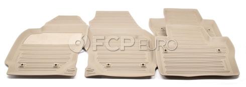 Volvo Rubber Floor Mat Set Mocca Brown (V70 XC70) - Genuine Volvo 39807572