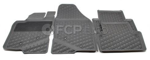 Volvo Rubber Floor Mat Set Grey (S80) - Genuine Volvo 39998294