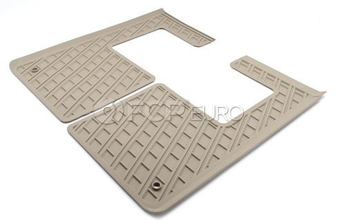 Volvo 3rd Row Floor Mat Set Brown (XC90) - Genuine Volvo 39880157