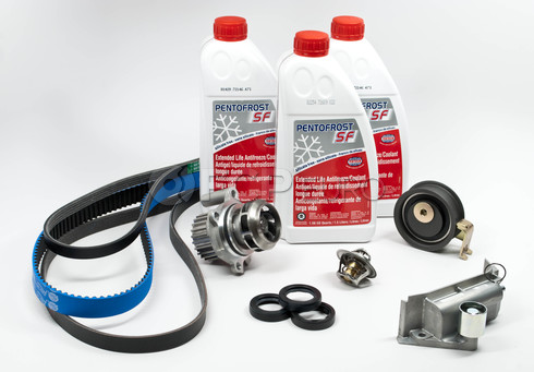 VW Timing Belt Kit with Coolant (Passat 1.8T AUG) - AUGTBKITG12RB