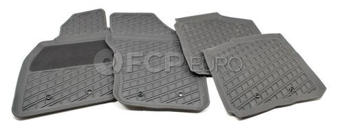 Volvo Rubber Floor Mat Set Off Black (S40 V40) - Genuine Volvo 30618364