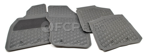 Volvo Rubber Floor Mat Set Off Black (S40 V40) - Genuine Volvo 30618364