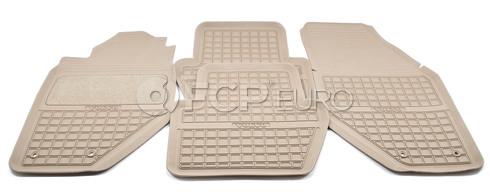 Volvo Rubber Floor Mat Set Granite/ Beige - Genuine Volvo 9422004