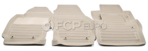 Volvo Rubber Floor Mat Set Mocca Brown (S80) - Genuine Volvo 39807566
