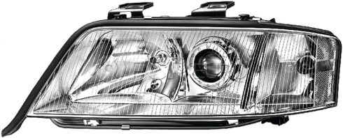 Audi Headlight Assembly Left (A6 A6 Quattro) - Hella 4B0941003AS