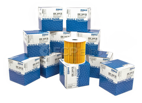 Volvo Engine Oil Filter Case of 12 (S40 S60 S70 S80 V70 XC70 XC90) - Mahle 1275811