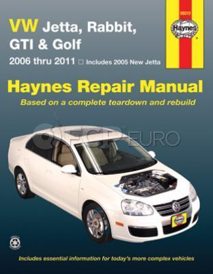 VW Haynes Repair Manual (Jetta Rabbit GTI Golf) - Haynes HAY-96019