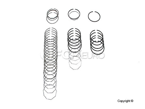Porsche Piston Ring Set (911) - Deves 1891
